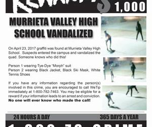 Vandalism: Murrieta Valley HS Vandalized