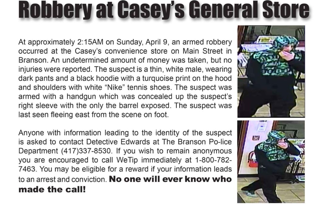 Robbery: Seeking Suspect