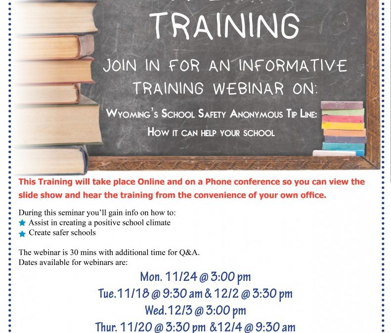 WeTip Training: WY Dept. of Ed
